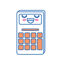 calculator kawaii cartoon vector image