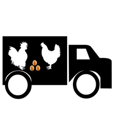 Car for transportation of poultry products vector
