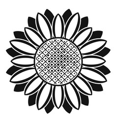 Circle of sunflower icon simple style vector