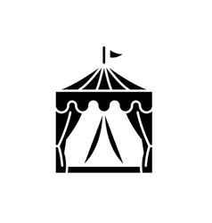 Circus black icon sign on isolated vector