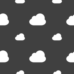 Cloud icon sign Seamless pattern on a gray vector
