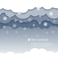Clouds winter vector image