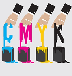 CMYK - Cyan Magenta Yellow And Black The Offset vector image