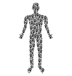 coffin person figure vector image