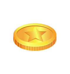 coin made gold material vector image