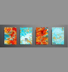 colorful covers design set with textures closeup vector image