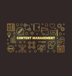 content management golden outline vector image