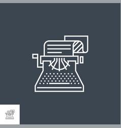 copywriting line icon vector image