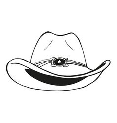 Cowboy hat - vintage engraved vector