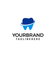 dental care logo design concept template vector image