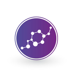dna and molecule icon in circle molecular vector image