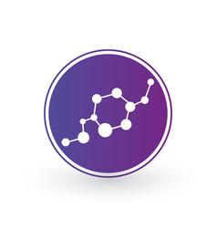 dna and molecule icon in circle molecular vector image