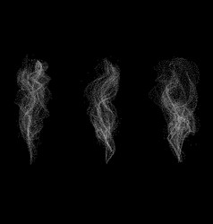 Dotted white smoke set vector