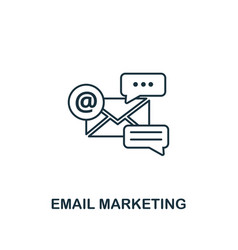 email marketing icon thin line style symbol from vector image