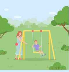 Family outdoor recreational activity child vector