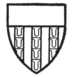 ferlington bore gules three pales vair and a vector image