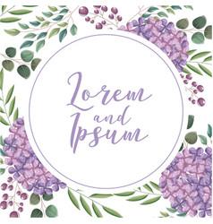 flower wedding card vector image
