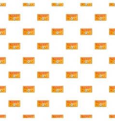 Football tickets pattern cartoon style vector