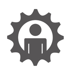 gears settings flat icon vector image