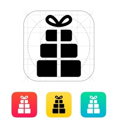 Gift boxes icons on white background vector image