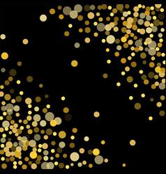 Golden confetti on a black background vector