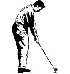 golf pose vector image