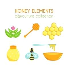 Honey set Bee design Cartoon vector