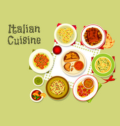 italian cuisine tasty dinner icon design vector image