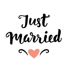 Just Married vector