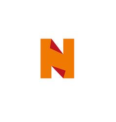 letter n logo design template elements paper vector image