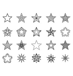Linear stars set vector