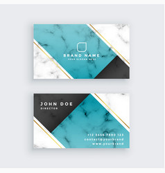 Modern creative business card in marble texture vector