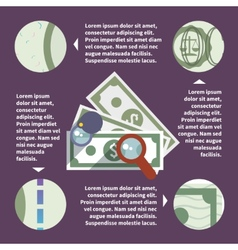Money inspect infographic vector