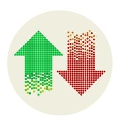 mosaic arrows vector image