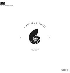 Nautilus shell logo vector