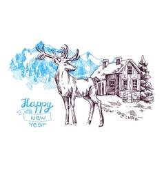 new year sketch vector image