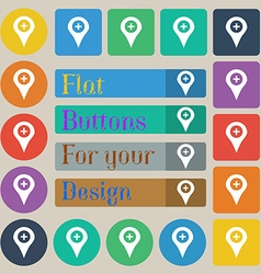 Plus map pointer gps location vector