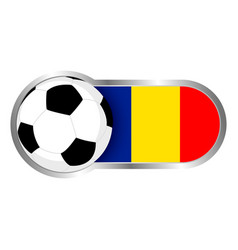 Romania soccer icon vector