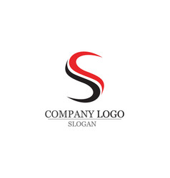 S logo and symbols template icons app vector