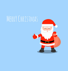 santa claus isolated on a pink background vector image