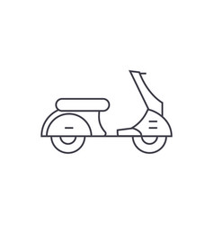 scooter thin line icon concept scooter linear vector image