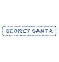 Secret santa textile stamp vector