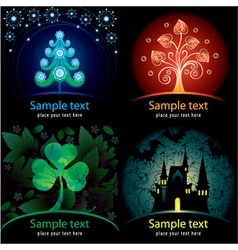 Set of decorative cards vector image