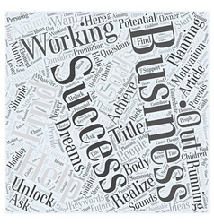 So what are you working for Word Cloud Concept vector image