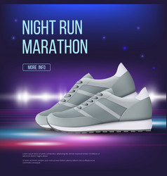 sport shoes poster run sneakers modern trendy vector image
