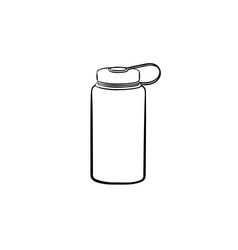 Sports water bottle hand drawn outline doodle icon vector