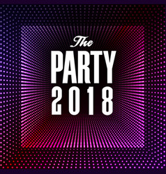 the party 2018 purple dot square background vector image