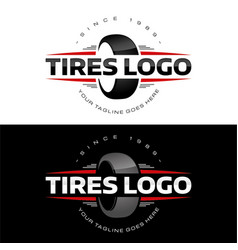 Tires logo vector