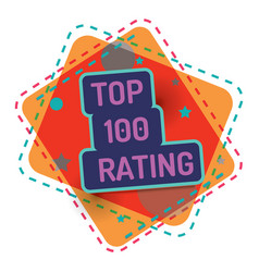 top 100 rating color banner quality vector image
