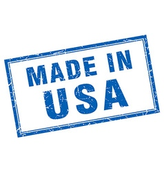 Usa blue square grunge made in stamp vector